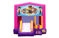 Pink And Purple Paw Patrol Bounce House With Slide