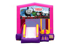 Pink And Purple Thomas The Train Bounce House With Slide