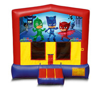 Blue And Red PJ Masks Premium Bounce House