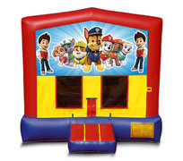 Blue And Red Paw Patrol Bounce House