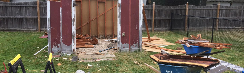 Demolition of Wood Shed