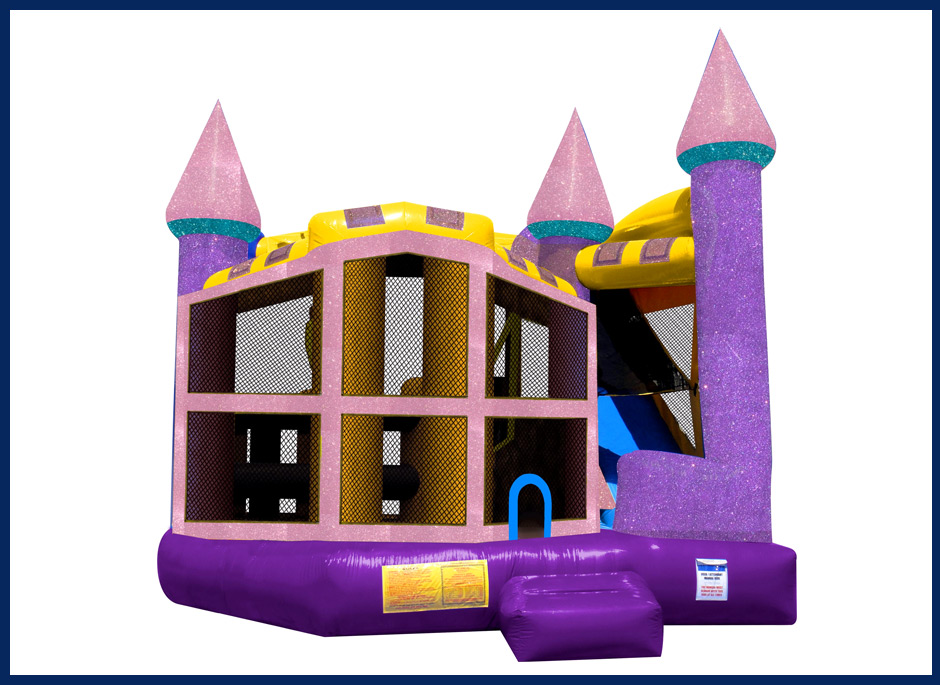 Dazzling Glitter Bounce House