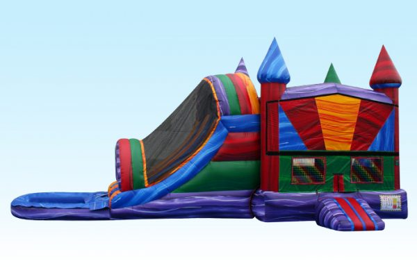 Marble Color Bounce House Combo