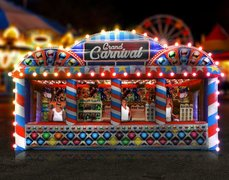 Grand Carnival Booth w/ Games