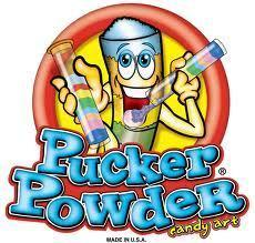 Pucker Powder Machine with Box of Candy