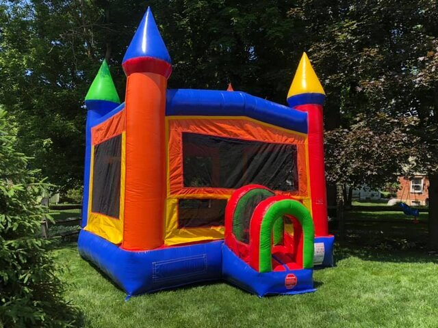 Rainbow Bounce House