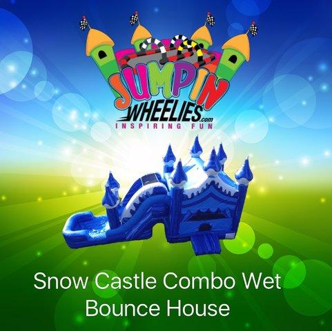 Snow Castle Bouncer with WATER Slide
