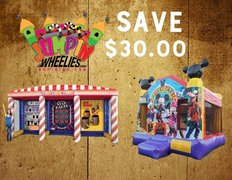 <b><font color=red> SAVE $30 <font/></b>BUILD YOUR OWN PACKAGE       Bounce House & Any Game
