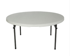 "60"" Round White Table"