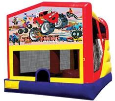 Monster Truck Combo Bounce House