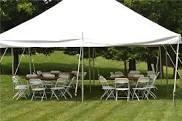 20x20 Tent 5 tables & 50 chair package