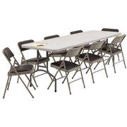 Table and chair package 2-6ft tables and 20 chairs kb