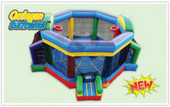 Bouncy boxing ring  with hoops and goals octagon no.28