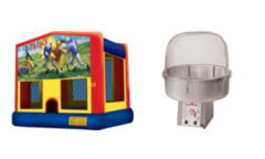 Football Bouncer and Cotton candy Maker Package Deal