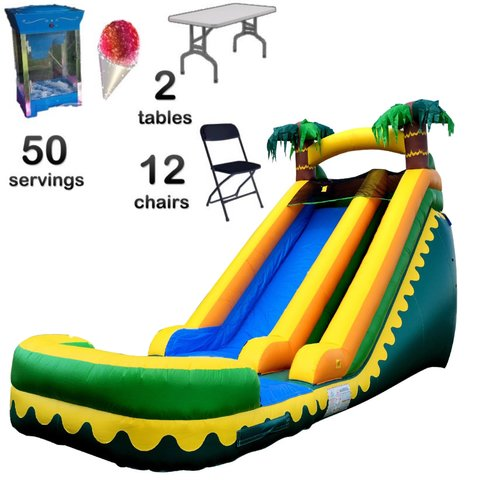Waterslide Birthday Package (1Con,2T,12C)