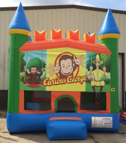 Curious George Castle Bounce House