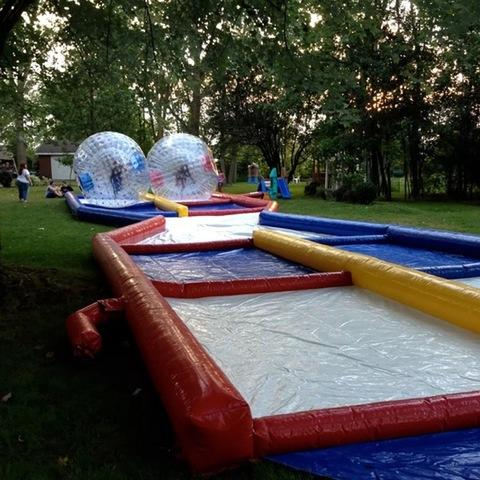 Zorb balls with track 2 hr rental w/ attendant