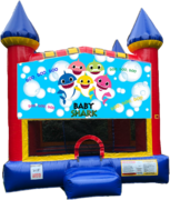 Baby Shark Castle Bounce House