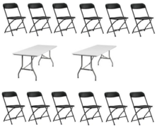4 Tables 24 chairs