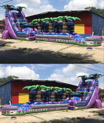 24ft Purple Crush w/ slip n slide & pool