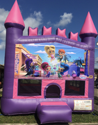 Shimmer n shine Pink Castle Bouncer