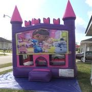 Doc Mcstuffins Pink Castle Bouncer