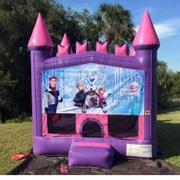 Frozen Pink Castle Bouncer