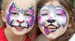 Face Painting (up to 14-16 kids per hour Approx.)