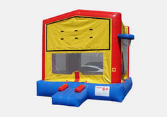 PREMIUM Bounce House Yellow Red w Hoop