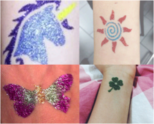 Glitter Tattoos (up to 20 kids Approx.)