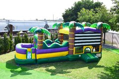 30 FT Palm Beach Combo/Obstacle Bounce House Dry