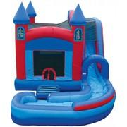 5 in 1 Wet Castle Jump n Splash w/Pool Combo
