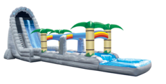 30ft Roaring River Water Slide with 2 Lane Slip and Slide