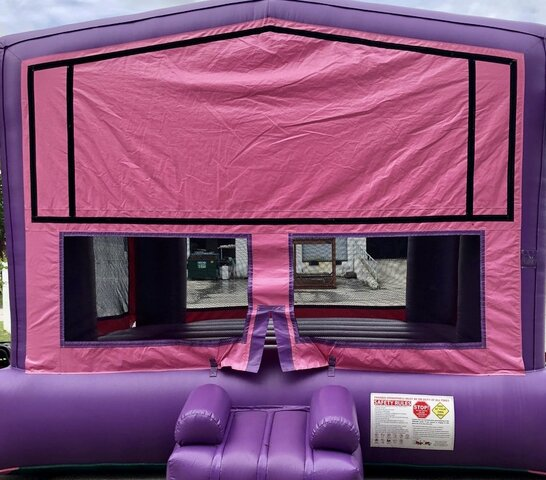 Premium Bounce House Pink Purple with hoop