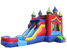 Castle-2-Double-Slides-Combo-Wet-n-Dry Unit: 41
