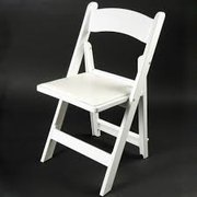 White Resin Padded Chair