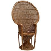 5' Brown Wicker Chair