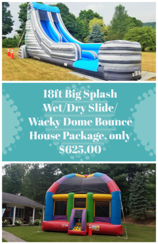 18ft Big Splash/ Wacky Dome Bounce House Package