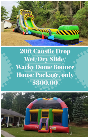 20ft Caustic Drop Slide/ Wacky Dome Bounce House
