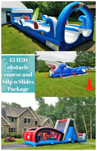 45 H20 Obstacle Course and Slip N Slide Package