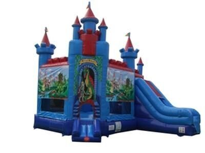 Brave Knight Bounce House Combo (Dry Only)