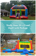 Wacky Dome Bounce House and Dual Castle Package