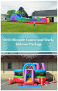 60 ft obstacle and Wacky Kidzone Package