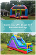Wacky Dome Bounce House and 30ft Rockslide Package