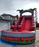 16ft Red Palm Tree Water Slide