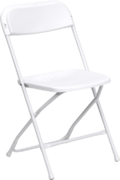 White Adult Folding Chair