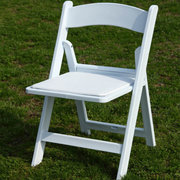 White Resin Chairs (with Pad)