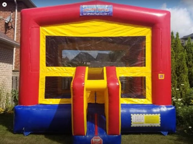 Deluxe Red Modular Bounce House