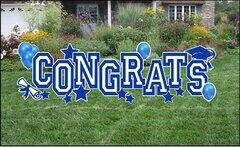 Blue Congrats Yard Cards