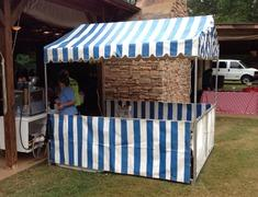 8' X 8' Blue and White Carnival Tent